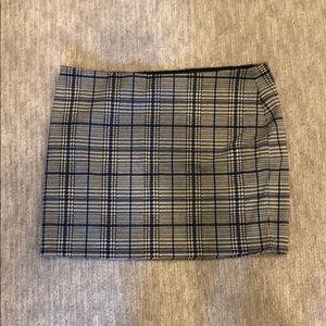 plaid express mini skirt